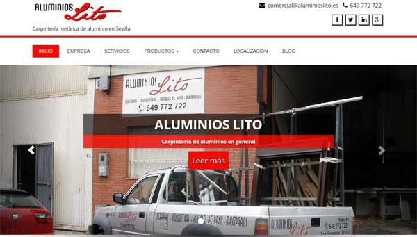 Nueva Web Resposive de Aluminios Lito