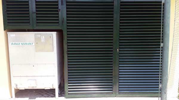 Cerramiento de mallorquinas de aluminio de Aluminios Lito